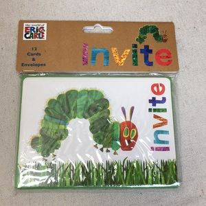 Eric Carle caterpillar invitations/envelopes NEW